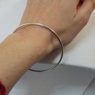 Charm Bangle Bracelet - 925 Sterling Silver