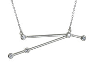 Aries Constellation Necklace - Sterling Silver, Horoscope Zodiac