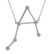 Libra Constellation Necklace - Sterling Silver, Horoscope Zodiac