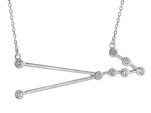 Taurus Constellation Necklace - Sterling Silver, Horoscope Zodiac