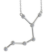 Sagittarius Constellation Necklace - Sterling Silver, Horoscope Zodiac
