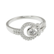 Infinity CZ Ring - 925 Sterling Silver