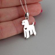 Poodle Necklace - 925 Sterling Silver