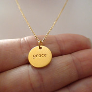 Grace Necklace - 24k Gold Plated Sterling Silver