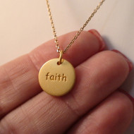 Faith Necklace - 24k Gold Plated Sterling Silver
