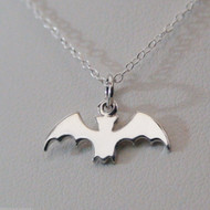 Bat Necklace - 925 Sterling Silver