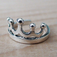 Sterling Silver Crown Toe Ring