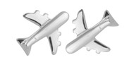 Airplane Earrings - Sterling Silver Post Earrings