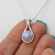 Moonstone Pendant Necklace - 925 Sterling Silver