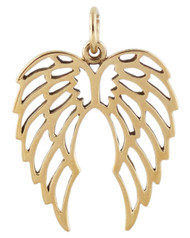 Angel Wings Pendant - Natural Bronze