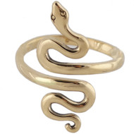 Adjustable Natural Bronze Snake Ring