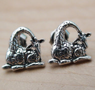 Sterling Silver Giraffe Earrings