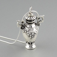 Perfume Bottle Necklace - Sterling Silver