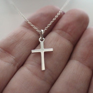Small Cross Necklace - Sterling Silver