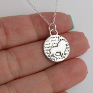 Inspirational Lion Charm Necklace - 950 Sterling Silver