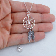 Dream Catcher Necklace - 925 Sterling Silver