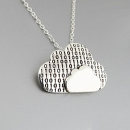 Binary Cloud Necklace - 925 Sterling Silver