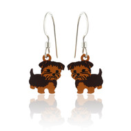 Yorkie Puppy Dog Earrings - 925 Sterling Silver