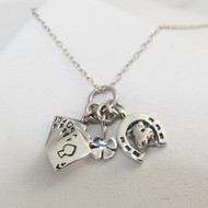 Tiny Lucky Charms Necklace - 925 Sterling Silver
