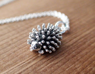 Sterling Silver Hedgehog Charm Necklace