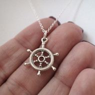 Captain Wheel Necklace -925 Sterling Silver