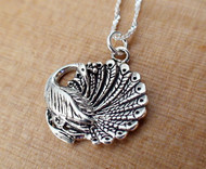 Peacock Necklace - 925 Sterling Silver