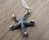 Starfish Charm Necklace - 925 Sterling Silver