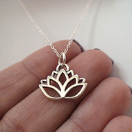 Lotus Flower Necklace in 925 Sterling Silver