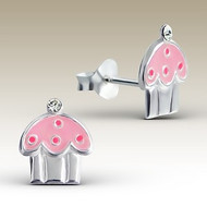 Cupcake Stud Earrings - 925 Sterling Silver