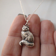 Cat Necklace - 925 Sterling Silver