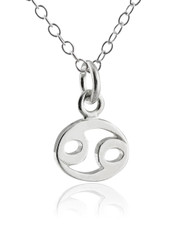 Cancer Charm Necklace - 925 Sterling Silver
