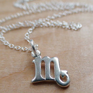 Scorpio Charm Necklace - 925 Sterling Silver