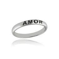 Amor Stackable Ring - 925 Sterling Silver