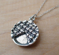 Sterling Silver Pie Charm Necklace