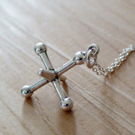 Sterling Silver Jax Charm Necklace