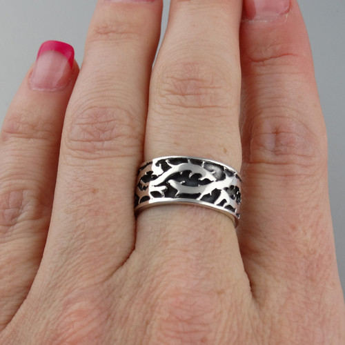Crown of Thorns Ring - Sterling Silver