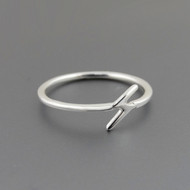 Lightning Bolt Midi Ring - 925 Sterling Silver