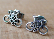 Sterling Silver Bicycle Post Earrings