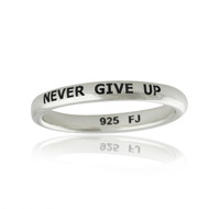 Never Give Up Ring - 925 Sterling Silver
