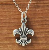 PETITE FLEUR de LIS - Sterling Silver Charm Necklace