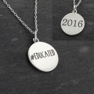 Educated 2016 Pendant Necklace - 925 Sterling Silver