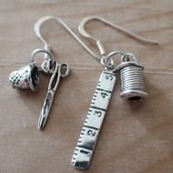 Sewing Earrings - 925 Sterling Silver