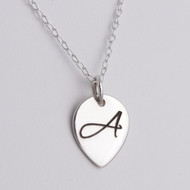 Personalized Engraved Initial Necklace - 925 Sterling Silver