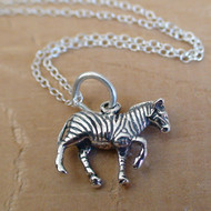 ZEBRA - Sterling Silver Charm Necklace