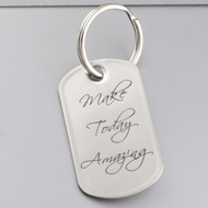 Engraved MAKE TODAY AMAZING Inspirational Key Chain