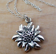 EDELWEISS FLOWER - Sterling Silver Charm Necklace