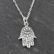 Hamsa Necklace - 925 Sterling Silver