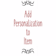 Add Personalization to an Item - Add Engraving