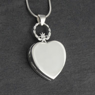 Irish Claddagh Heart Locket Necklace - 925 Sterling Silver