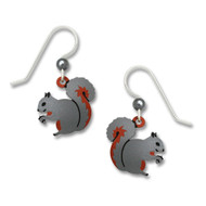 Squirrel Earrings - 925 Sterling Silver Ear Wires